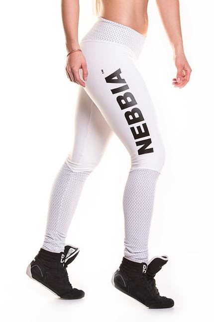 Леггинсы с белой сеткой NEBBIA HEART BUTT 280