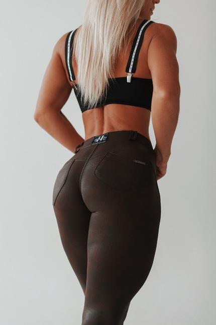 Спортивные штаны LEATHER LOOK BUBBLE BUTT PANTS 538