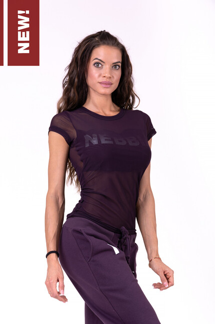 Облегающая спортивная футболка FLASH-MESH T-SHIRT 665 BORDEAUX