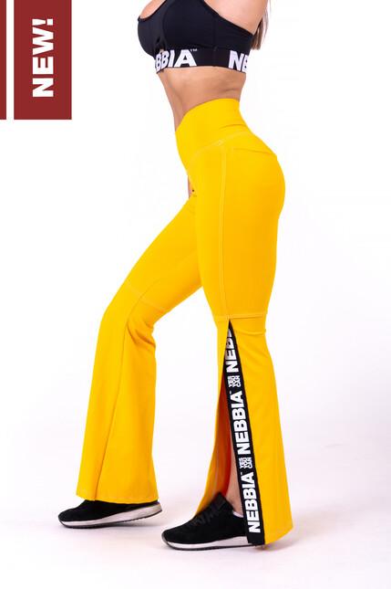 Штаны для тренировок 70'S FANCY FLARED PANTS 667 YELLOW