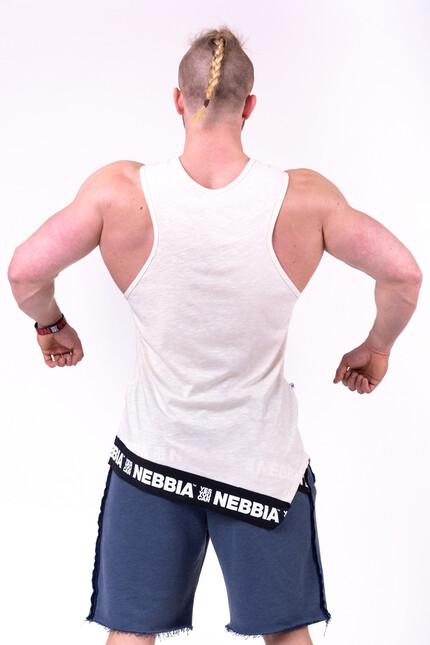 Спортивная майка для мужчин NEBBIA BE REBEL 141 CREAM