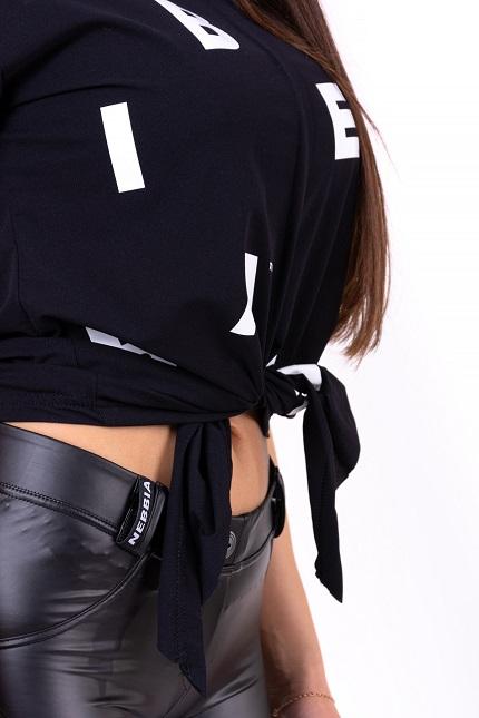 "Декорированная футболка TIED KNOT ""LETTERS"" T-SHIRT 680 BLACK"